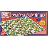 Snakes and Ladders Board Game Traditional Children Game by KT