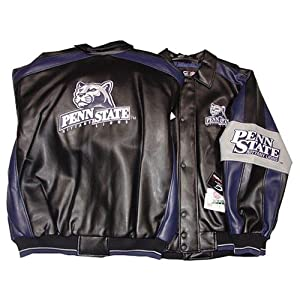 Penn State Nittany Lions NCAA Logo Pleather Adult Jacket #1 by SportsMagicK