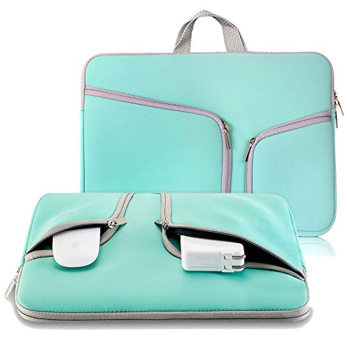 11-116-inch-Soft-Laptop-Tablet-Sleeve-ivencase-Case-Cover-with-Handle-and-Zipper-Built-in-2-Pockets-for-Notebook-Computer-MacBook-MacBook-Air-Chromebook-Hot-Teal