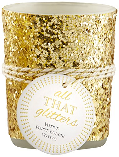 "Kate Aspen ""All That Glitters"" Gold Votive/Tealight Holder"