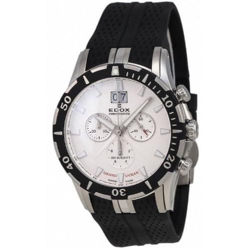 [エドックス] EDOX 腕時計 Grand Ocean Chronodiver Big Date Chronograph Stainless Steel Mens Luxury Sport Watch 10022-3-AI クォーツ 10022-3-AIN [TimeKingバンド調節工具& HARP高級セーム革セット]【並行輸入品】