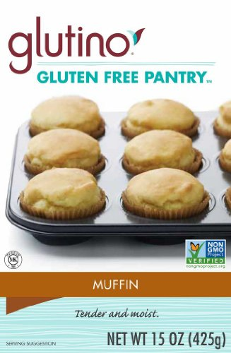 Glutino Gluten Free Pantry Muffin Mix, 15-Ounce Boxes (Pack of 6)