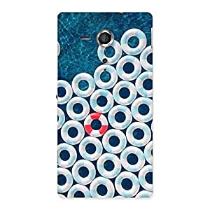 Gorgeous Blue Sea Saving Back Case Cover for Sony Xperia SP