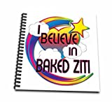3dRose db_166250_1 I Believe in Baked Ziti Cute Believer Design-Drawing Book, 8 by 8-Inch