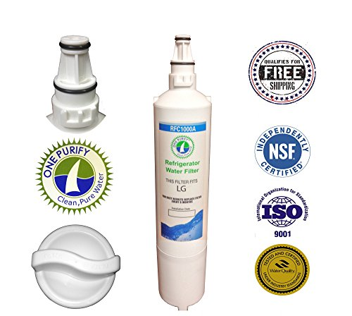 1 Pack - Onepurify Water Filter To Replace Lg, Lg Premium, Kenmore, Kenmoreclear!, Sears, Amana, 5231Ja2005A-S, 5231Ja2006, 5231Ja2006A, 5231Ja2006A-S, 5231Ja2006B, 5231Ja2006B-S, 5231Ja2006E, 5231Ja2006F, 5231Ja2006F-S, 5231Ja2006H, 5231Jj2001C, Wf300, W front-437071