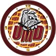"Minnesota-Duluth Bulldogs Suntime 12"" Dimension Glass Crystal Wall Clock - NCAA College Athletics"