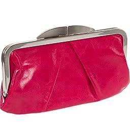 Hobo Women\'s Genuine Leather Hayley Clutch Wallet (Garnet)