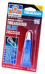 Permatex 24200 Medium Strength Threadlocker Blue, 6 ml