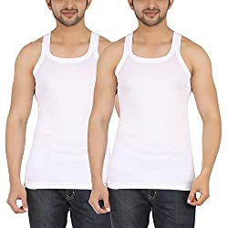 SHERA Fitline White Color Gym Vest Pack of 2