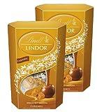 Lindt Lindor Caramel Chocolate Truffle Cornet Box (2 x 200g)