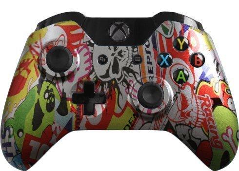 Custom Xbox One Controller Special Edition Silver Graffiti Controller