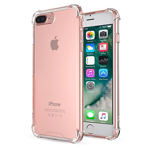iPhone 7 Plus Case - MoKo Advanced Shock-absorbent Scratch-resistant Cover Case with Transparent Hard PC Back Plate and Flexible TPU Gel Bumper for Apple iPhone 7 Plus 5.5
