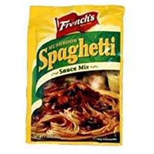 French's Spaghetti Sauce with Mushroom, 1.38-Ounce Packages (Pack of 18)