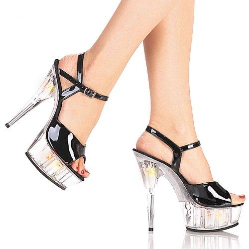 MULTILITE-609(LITE-209), 6'' Black / Clear Liteup Sandals - Buy MULTILITE-609(LITE-209), 6'' Black / Clear Liteup Sandals - Purchase MULTILITE-609(LITE-209), 6'' Black / Clear Liteup Sandals (All Sexy Shoes, Apparel, Departments, Shoes, Women's Shoes, Pumps, High Heels)