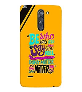 printtech Matter Quote Back Case Cover for LG G3 Stylus::LG G3 Stylus D690N::LG G3 Stylus D690