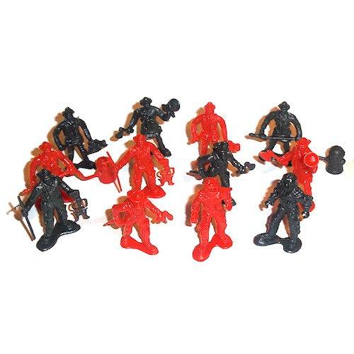 12 Plastic Firemen - 1