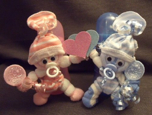 Pink And Blue Twins Diaper Cake Baby Shower Gift Centerpiece