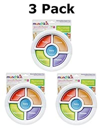 Munchkin Balanced Meal Toddler Plate BPA Free (3 Pack)