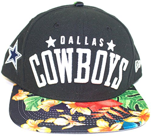 NFL Officially Licensed Dallas Cowboys Floral Snap Back Flat Bill Baseball Hat Cap Lid