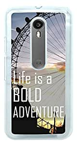 Moto G Turbo Back Cover , Moto G3 Back Cover , Premium Quality Designer Printed 2D Transparent Lightweight Slim Matte Finish Hard Case Back Cover for Moto G 3rd Generation/Moto G Turbo by Tamah