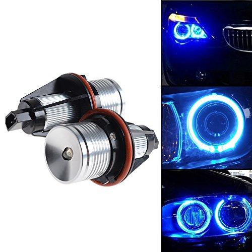 Choose Color -- ERROR FREE 6W LED Angel Eyes Halo Ring Marker Light Bulb for BMW E39 E60 E61 E63 E64 E65 E66 5 6 7 Series X3 X5 (Blue Light) (E39 Headlight Bulb compare prices)