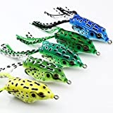 VERY100 5.5cm 8g Soft Frog Topwater Fishing Lure Crankbait Hooks Bass Bait Tackle (5pcs)