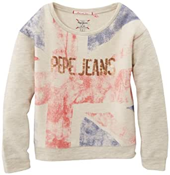 Pepe Jeans Eryn - Sweat-shirt - Manches longues - Fille - Gris (Lt Grey Marl) - FR: 10 ans (Taille fabricant: 10/XS)