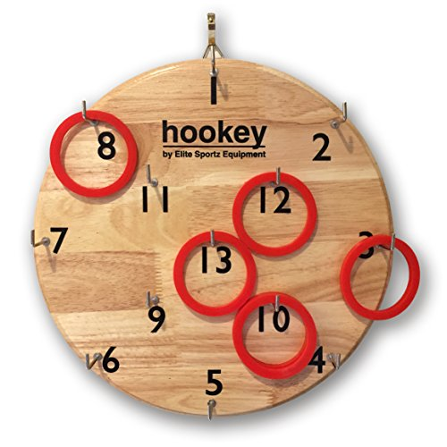 Elite Hookey Ring Toss Family Games - Hang it on a Wall and Start Playing - Great Indoor or Outdoor Game for Kids or Adults Man Cave. (Washers Game Rings compare prices)