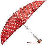 Cath Kidston Women's Tiny 2 Umbrella, Button Spot Cranberry, One Size