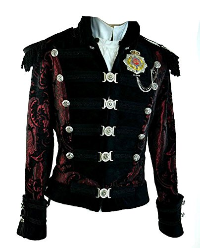 Shrine-Napoleon-Victorian-Gothic-Steampunk-Rocker-Military-Army-Parade-Coat-Jacket