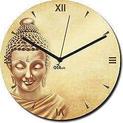 2 O Clock Lord Buddha Printed Analog Wall Clock