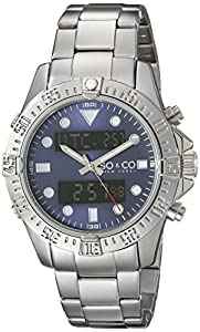 "SO&CO New York Men's 5017.2 ""Yacht Club"" Silver-Tone Watch by SO&CO MFG"