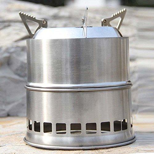Gearmax® Portatile in acciaio inox Stufa a legna leggera solidificati Alcohol Stove Cucinare all'aperto Picnic barbecue Camping