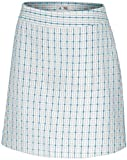 Adidas Golf Women's Climalite Plaid Skort-White/Blue/Gray