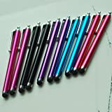 SODIAL- 10 Pcs Stylus Set Aqua Blue/Black/Red/Pink/... Stylus/styli Touch Screen Cellphone Tablet Pen for iPhone... by SODIAL(R)