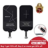 Type C Wireless Charging Receiver, Nillkin [Magic Tag]Type-C Qi Wireless Charger Receiver Chip for Google Pixel XL/LG V20/HTC 10/OnePlus 3 and other Small Size USB-C Devices - Black