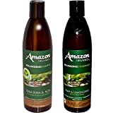Mill Creek Botanicals Amazon Volumizing Natural 71% Organic Shampoo and Conditioner Bundle With Acai Berry, Lavender, Lemongrass, Witch Hazel, Aloe Vera, Jojoba and Rosemary, 12 fl. oz. each