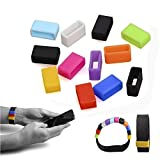 NIUTOP 12pcs Multicolor Replacement Silicon Fastener Ring for Fitbit Flex/ Fitbit Charge/ Fitbit Charge HR Wireless Activity Bracelet Sport Wristband - Fix the Clasp Fall Off Problem - (Tracker or Wristband NOT included)