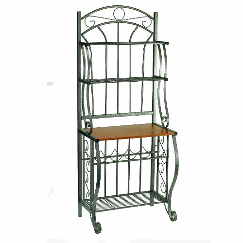 Old Dutch Pewter Baker's Rack  Wine Rack, 27-1/4