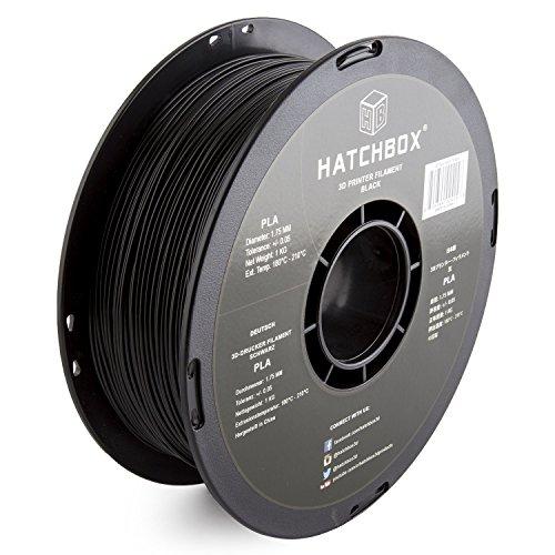HATCHBOX-3D-PLA-1KG175-BLK-PLA-3D-Printer-Filament-Dimensional-Accuracy-005-mm-1-kg-Spool-175-mm-Black