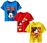 Disney Little Boys' Mickey Mouse Toddler Boys Assorted Tee 3-Pack No 1