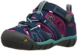 KEEN Seacamp II CNX Sandal (Toddler), Poseidon/Very Berry, 5 M US Toddler