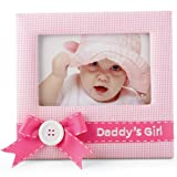 Mud Pie Baby Little Princess Pink Gingham Photo Frame, Daddy's Girl