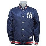 Majestic(マジェスティック) MLB ニューヨーク・ヤンキース ジャケット Satin ジャケット (ネイビー) - M