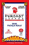 Puroast Low Acid Coffee French Roast Single Serve Coffee, Keurig Compatible, 12 - .41 oz, Net Wt. 4.88 Ounce