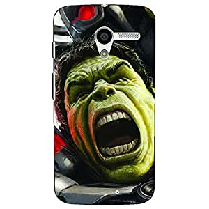 Jugaaduu Super Heroes Hulk Age of Ultron Back Cover Case For Moto X (1st Gen)
