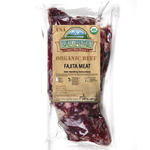 Organic Grass Fed Fajita Skirt Steak Strips ONE (1 lb. Package)