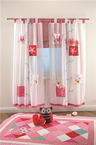 4uniq kinder vorhang gardine dekoschal eule f r. Black Bedroom Furniture Sets. Home Design Ideas