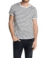 EDC by Esprit Camiseta Manga Corta shortslv stripe (Blanco)