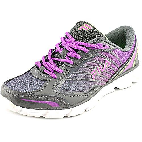 Fila Women's Fresh 3 Running Shoe, Dark Shadow/Purple/Green, 6.5 M US